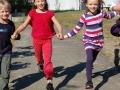 Rennen über den Schulhof erlaubt