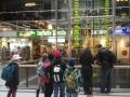 Die Uhr der fließenden Zeit im Europa-Center